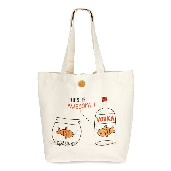 OHH DEER-LARGE SHOPPING TOTE-VODKA GOLDFISH