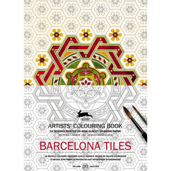 PEPIN PRESS-COLOURING BOOK-BARCELONA TILES
