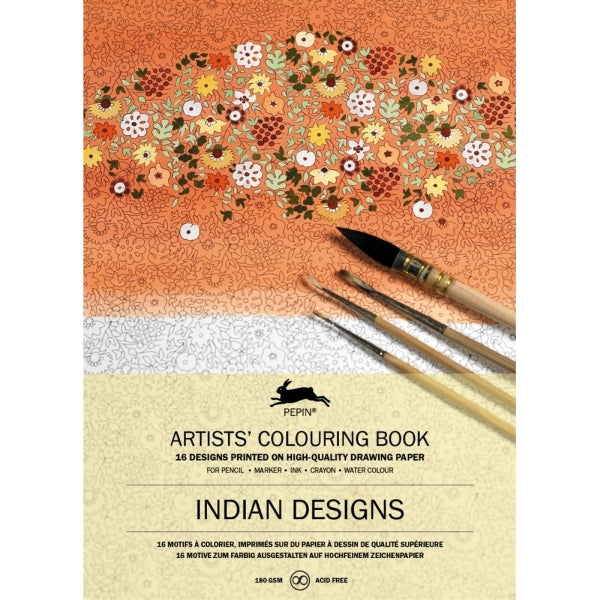 Pepin Press-Colouring Book-Indian Designs