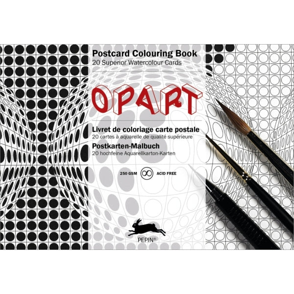 Pepin Press-Postcard Colouring Book-Op Art