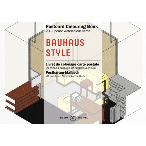 Pepin Press-Postcard Colouring Book-Bauhaus