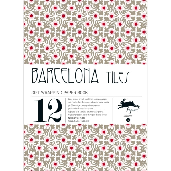 PEPIN PRESS-GIFT AND CREATIVE PAPERS BOOK-BARCELONA TILES