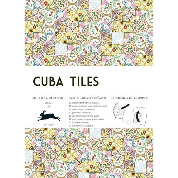 PEPIN PRESS-GIFT AND CREATIVE PAPERS BOOK-CUBA TILES