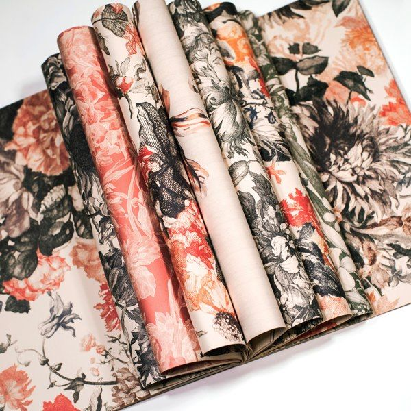 Pepin Press-Gift and Creative Papers Book-Floral Engravings