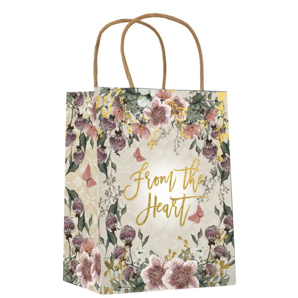 Papaya-Gift Bag-Floral Heart