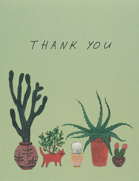 Red Cap-Card-Cactus Thank You