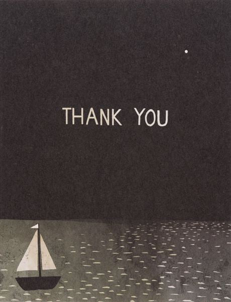 Red Cap-Card-Boat Thank You