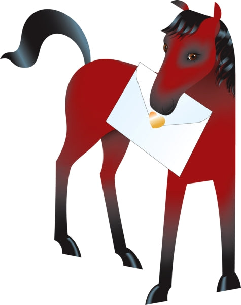 SPECIAL DELIVERY-CARD-HORSE-CHESTNUT