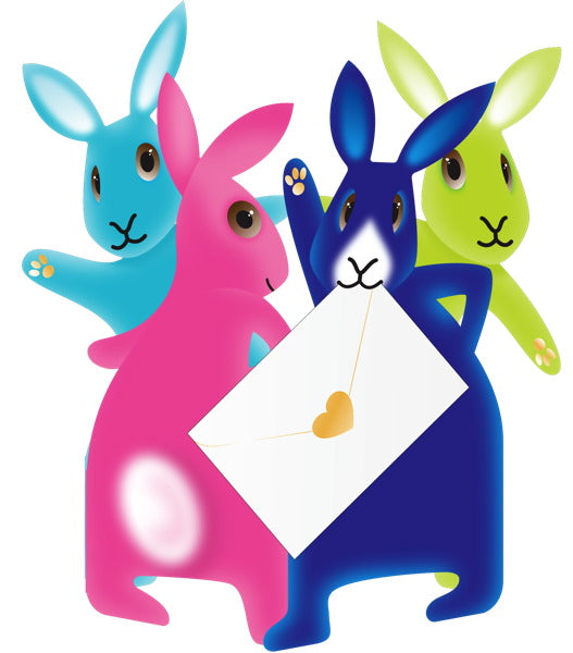 SPECIAL DELIVERY-CARD-PARTY BUNNIES