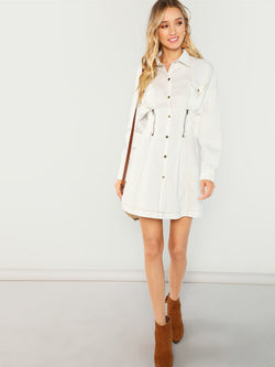 White Jacket Dress