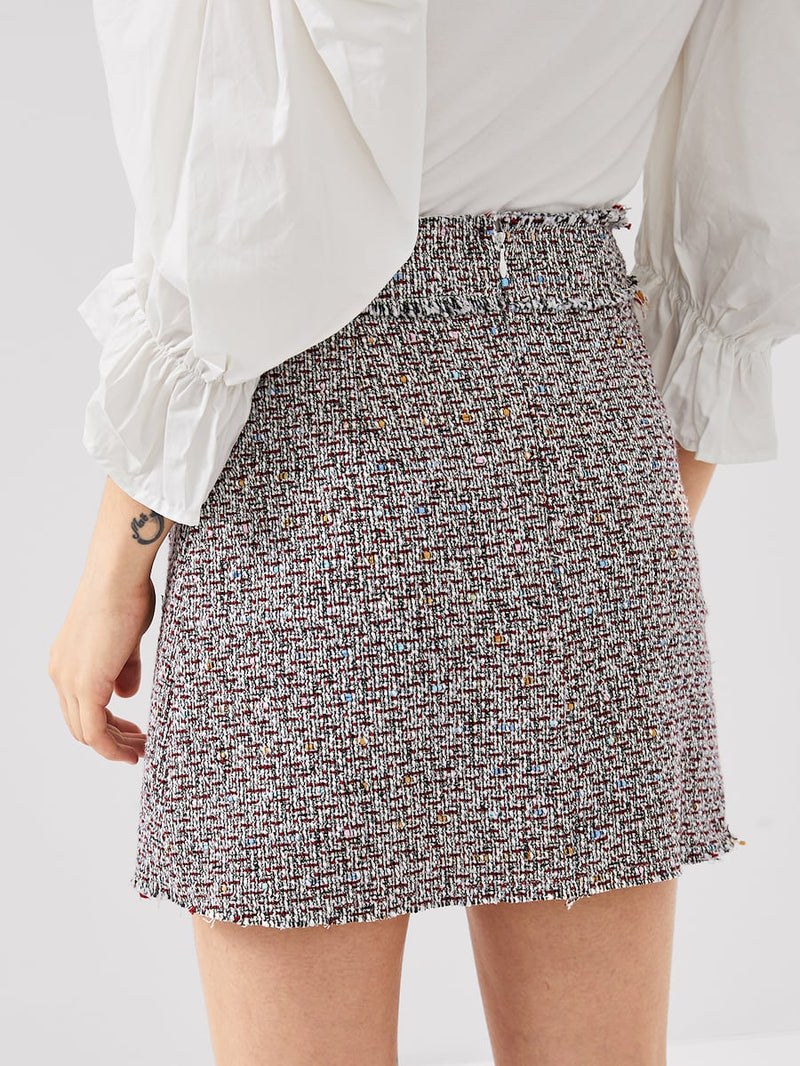 Tweed Skirt Set