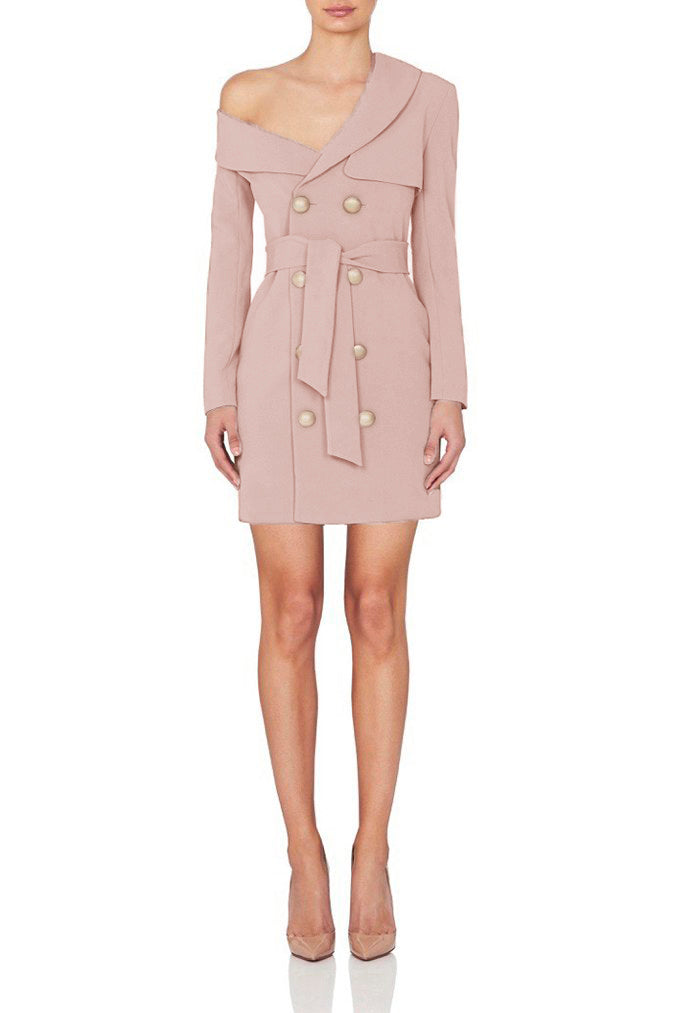 Long Sleeve Trench Dress