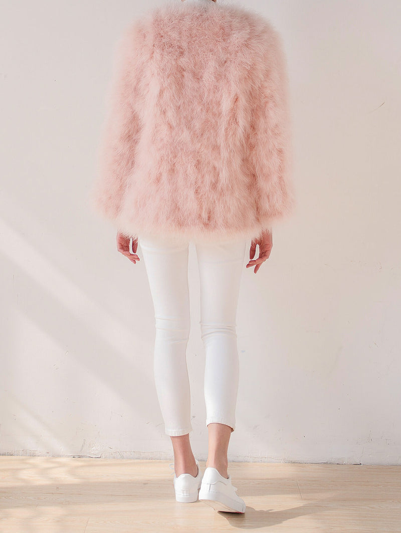 Light Pink Feather Coat