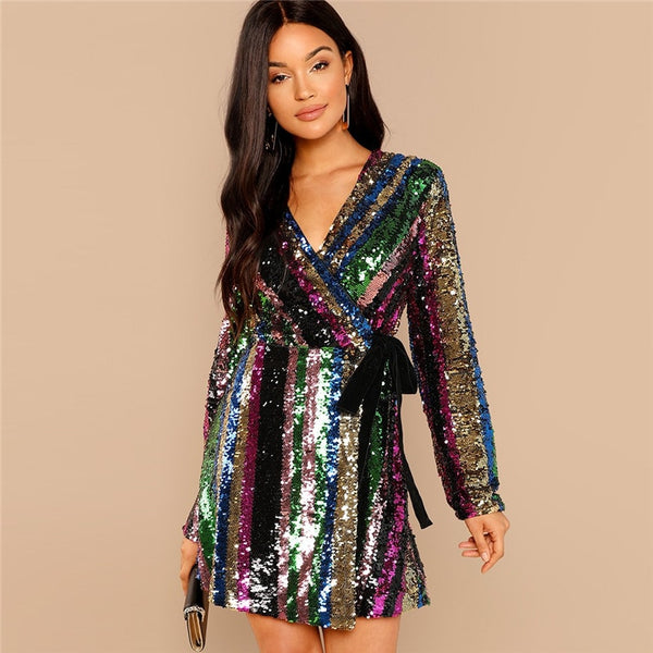Colorful Sequin Dress