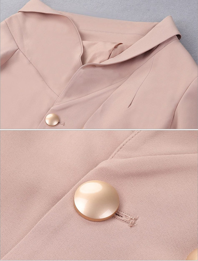 Blush Long Sleeve Trench Dress