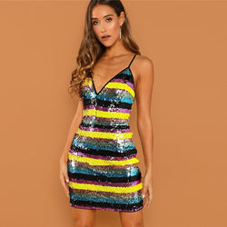 Kelly Sequin Spaghetti Strap Dress