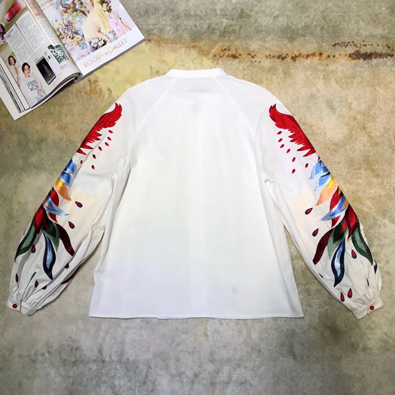 Embroidery Patchwork Blouse