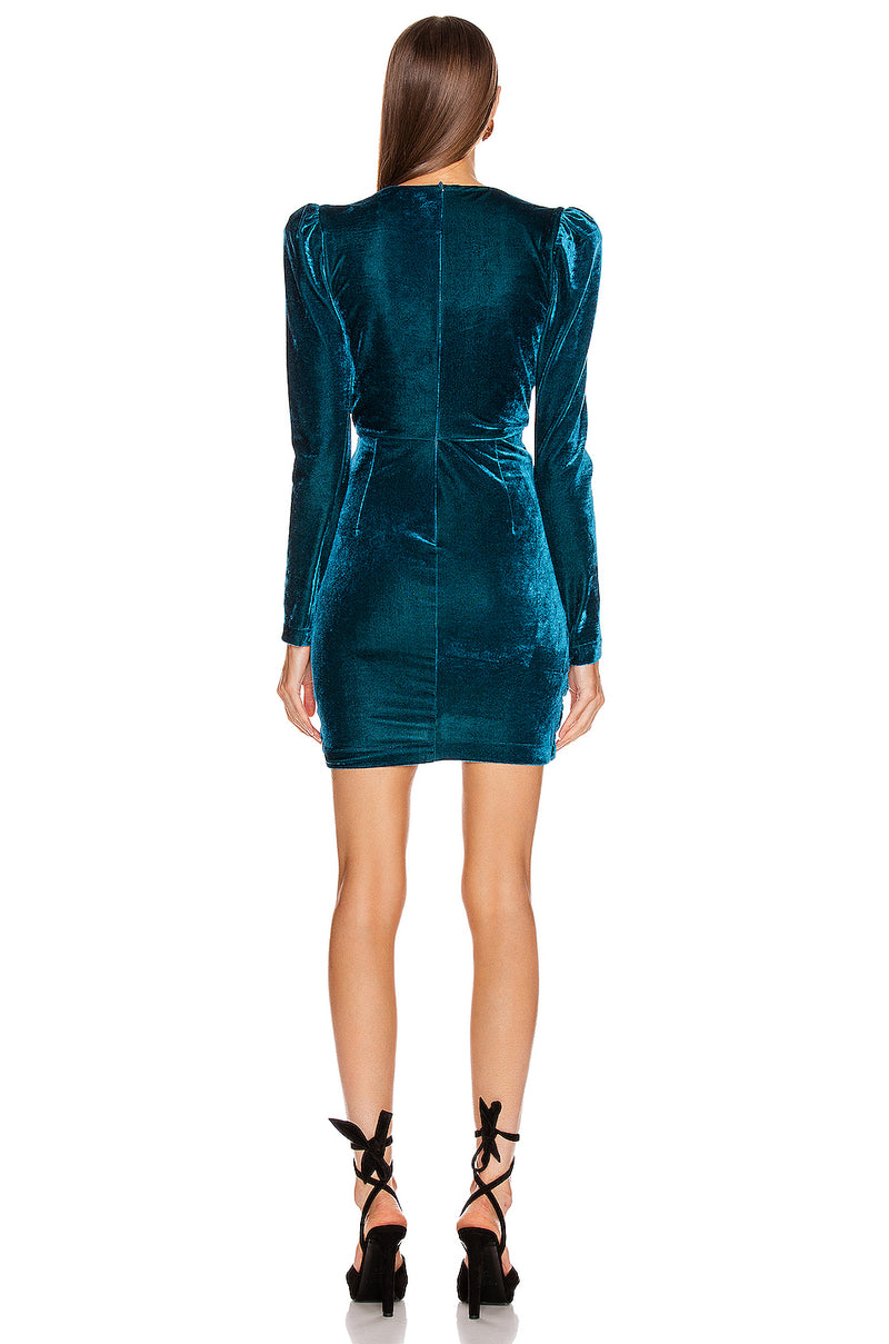 Suede Long Sleeve Gin Dress