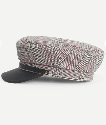 Grey Cabby Hat