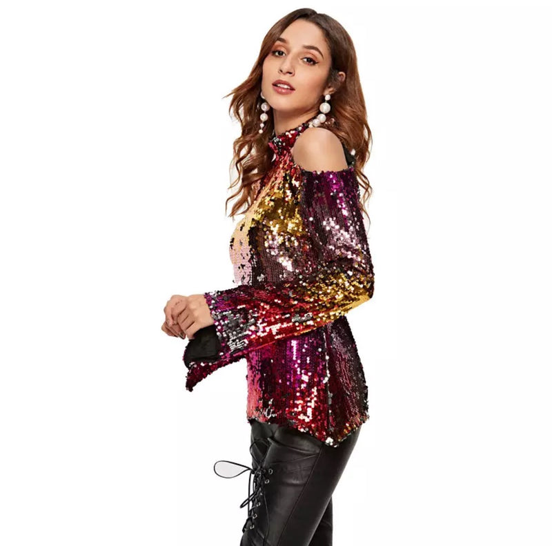 Sequin Colorful Blouse