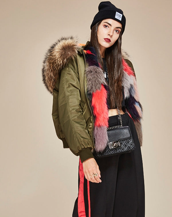 Helen Army Bomber Coat