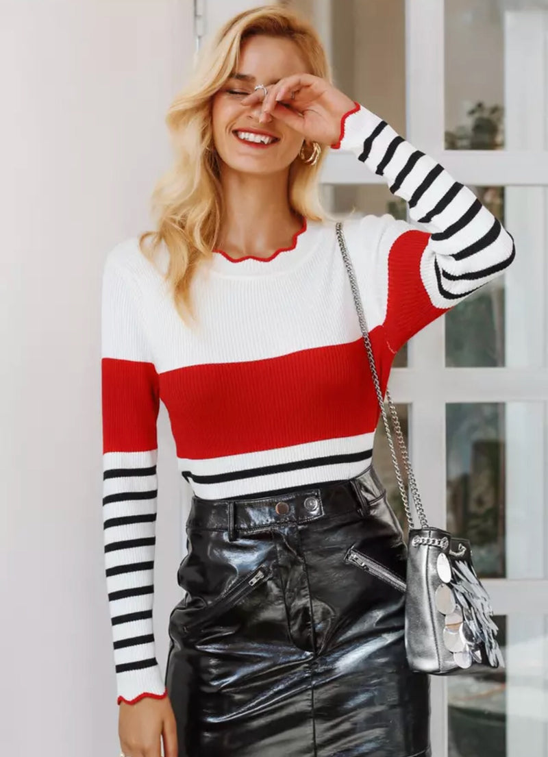 Stripe Kaia Sweater