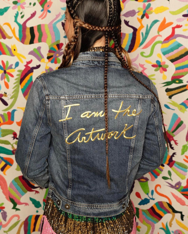 I AM THE ART WORK Denim Jacket by Paula Sarmiento
