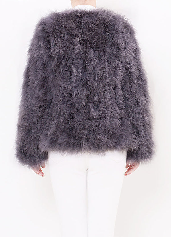 Grey Feather Coat
