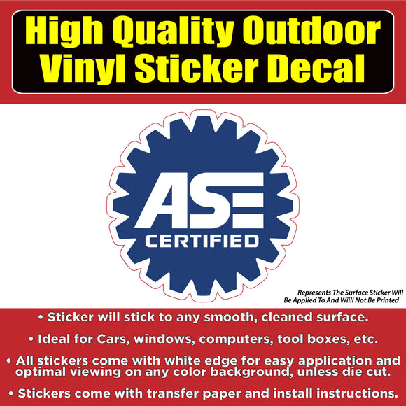 ASE Certified Business Sign Banner Vinyl Business Sticker Decal