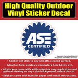 ASE Certified Replacement Business Sign Banner Vinyl Business Sticker Decal