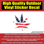 American flag Marijuana pot leaf Vinyl Car Window Laptop Bumper Sticker Decal