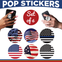 Patriotic Government USA Pop Sticker- Set of 6