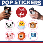 Animals Pop Stickers- Set of 6