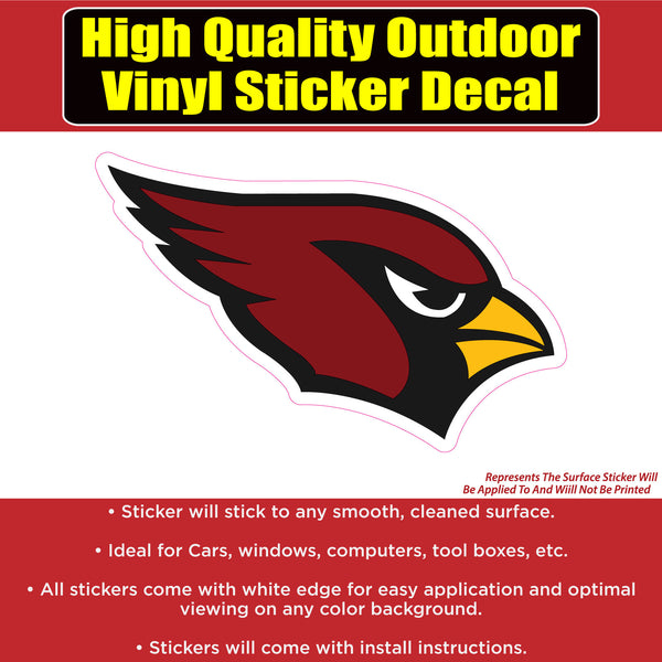 Arizona Cardinals Vinyl Car Window Laptop Bumper Sticker Decal