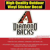 Arizona Diamondbacks Baseball Vinyl Car Window Laptop Bumper Sticker Decal