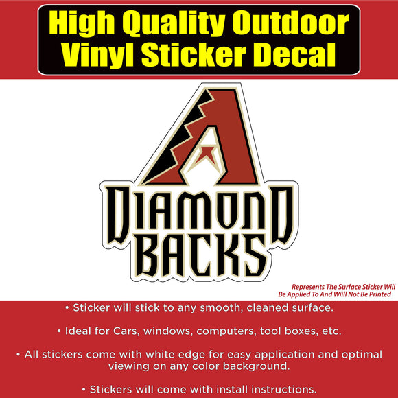 Arizona Diamondbacks Baseball Vinyl Car Window Laptop Bumper Sticker Decal - Colorado Sticker