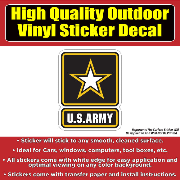 US Army Star Vinyl Vehicle Car Window Bumper Sticker Decal - Colorado Sticker