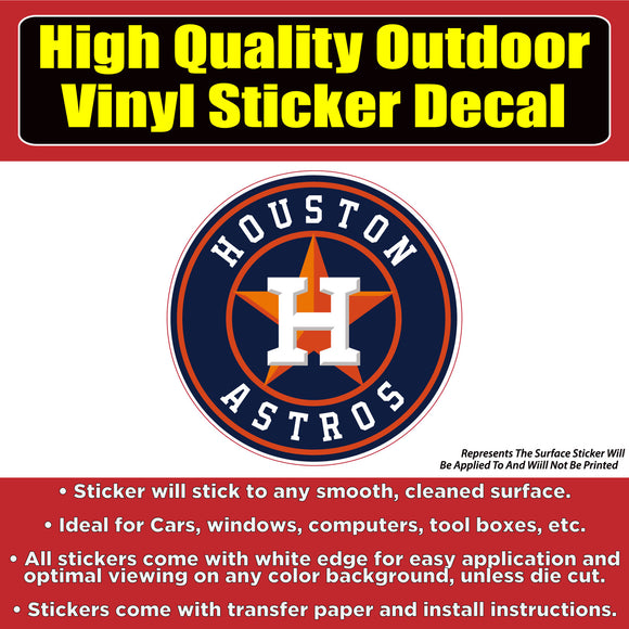 Houston Astros Vinyl Car Window Laptop Bumper Sticker Decal - Colorado Sticker