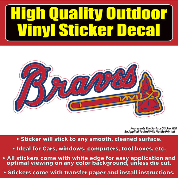 Atlanta Braves Baseball Team Vinyl Car Window Laptop Bumper Sticker Decal