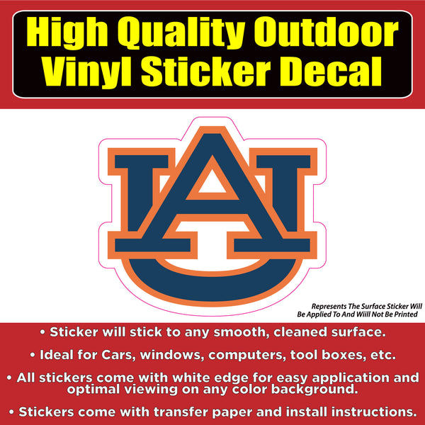Auburn Tigers University Vinyl Window Bumper Sticker decal