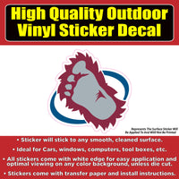 Colorado Avalanche Yeti Foot Design - Hockey Vinyl sticker decal
