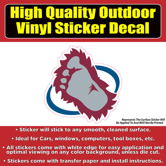 Colorado Avalanche Foot - NHL Hockey Vinyl sticker decal - Colorado Sticker