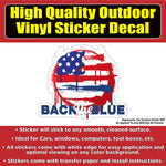 United States Flag Grunge Back in the Blue Vinyl Car Window Laptop Bumper Sticker Decal