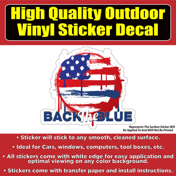 United States Flag Grunge Back in the Blue Vinyl Car Window Laptop Bumper Sticker Decal - Colorado Sticker
