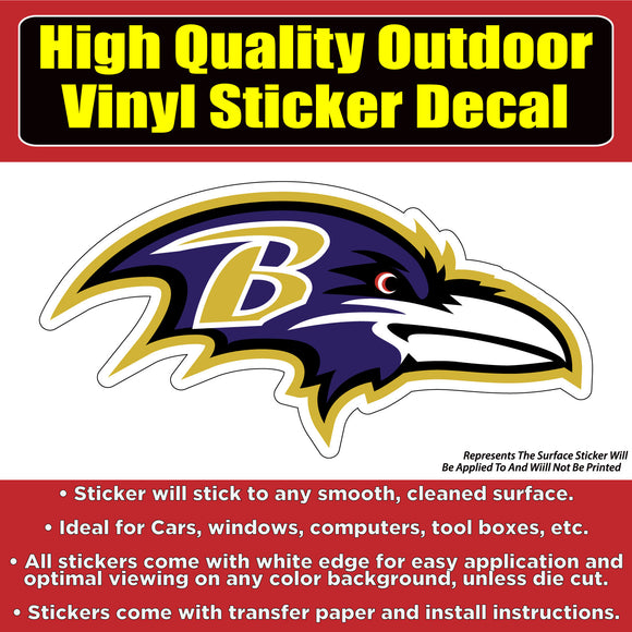 Baltimore Ravens Vinyl Car Window Laptop Bumper Sticker Decal - Colorado Sticker