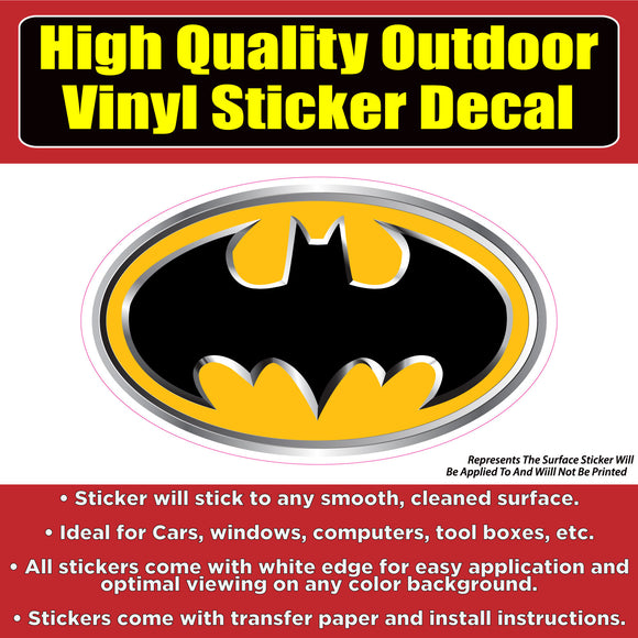Batman Comic Movie Vinyl Car Window Multi-use Bumper Sticker Decal