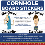 The Great Cornholio Beavis Butthead Cornhole Board Set of 2 Full Coverage Vinyl Decal Sticker Wrap