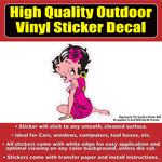 Betty Boop Character Sitting TV show Vinyl Window Car Sticker Decal