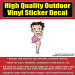 Betty Boop Character Standing TV show Vinyl Window Car Sticker Decal