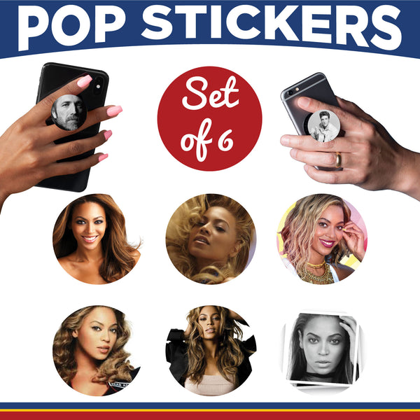 Female Musicians Pop Sticker- Set of 6